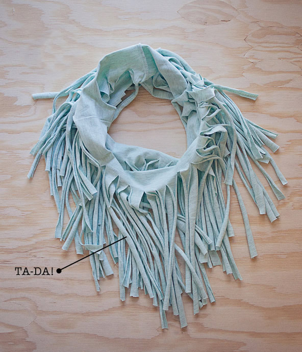 Turn T-shirt to Scarf