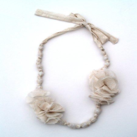 Cloth Flower Necklace