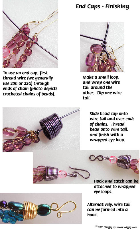 How to Make End Caps Using Jewelry Wire Pages