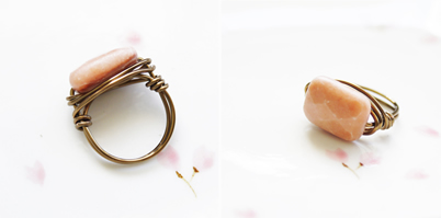 Peach Aventurine Ring