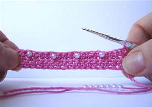 Single Crochet with Beads
