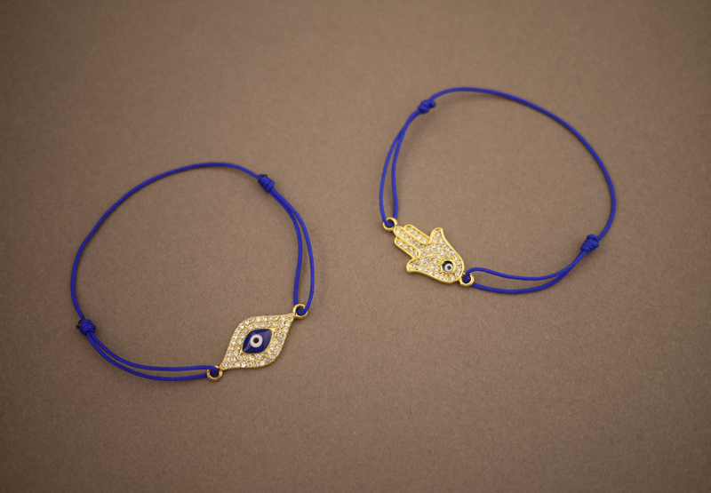 Easy Evil Eye and Hamsa Bracelet