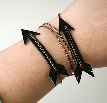 DIY Leather Arrow Bracelet