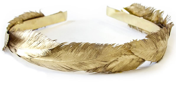 Golden Feather Headband