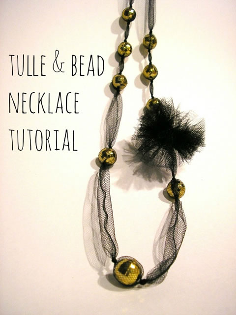 Tulle & Bead Necklace