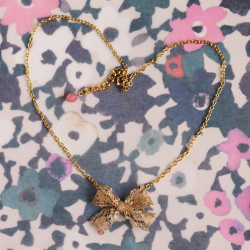 Lace Bowknot Necklace
