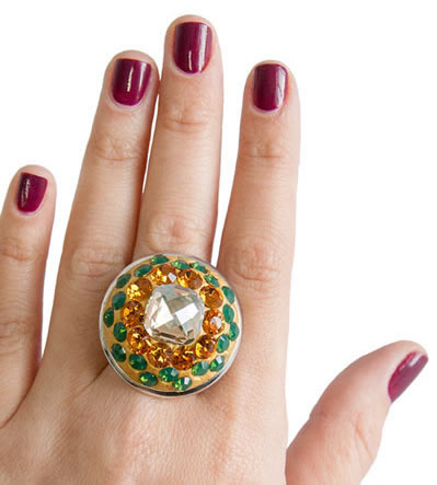 DIY Rhinestone Resin Ring