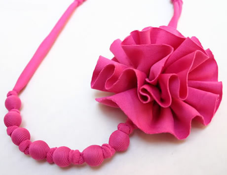 Felt Flower Necklace