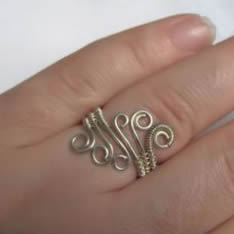 Simple Wire Wrapped RingFree Diy Jewelry Projects | Learn how to ...
