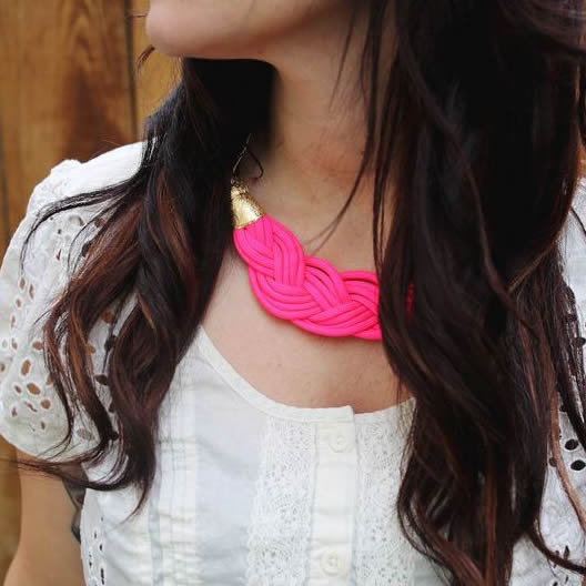 Braided Cord Necklace