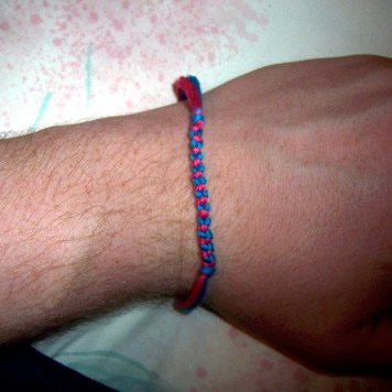 Cross Knot Friendship Bracelet