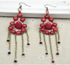 DIY Drop Earrings with Jade Beads and Chains