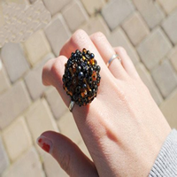 DIY Handmade Beaded Finger Ring