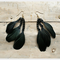 DIY Feather Earring