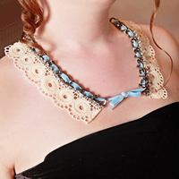 How To Make Lace Necklace
