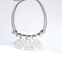 Beaded Sweater Chain Necklace