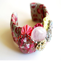 Handmade Gemstone Cuff Bangle
