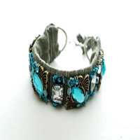 Rhinestone Cuff Bangle