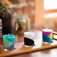 DIY Colorful Candle