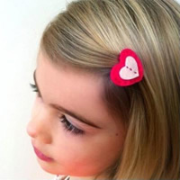 Handmade Heart-Shaped Hair Clip