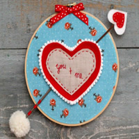 You and Me-Valentine' Day Hoop Art