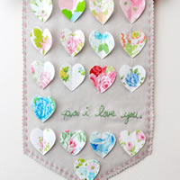 Vintage Hearts for the Valentine's Day