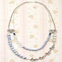 DIY Nice Blue Beaded Necklace
