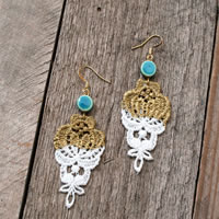 Easy DIY Lace Drop Earrings