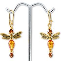 Gold Winged Dragonflies Earring Project